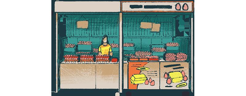 Pasar egg stall